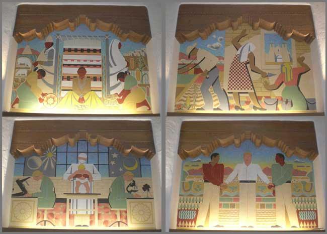 Adams Murals in Zimmerman Library