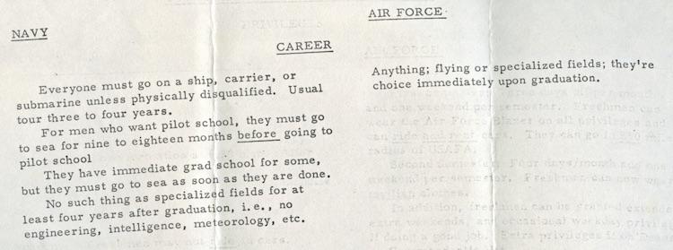 Air Force vs. Navy Comparison