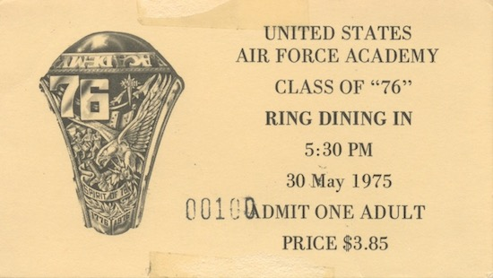 Ring Dining In Ticket
