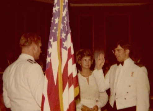 Taking the oath of office 1976
