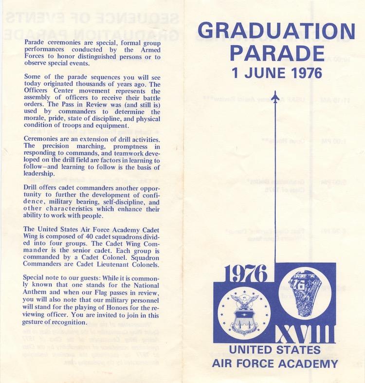 Graduation Parade Program 1