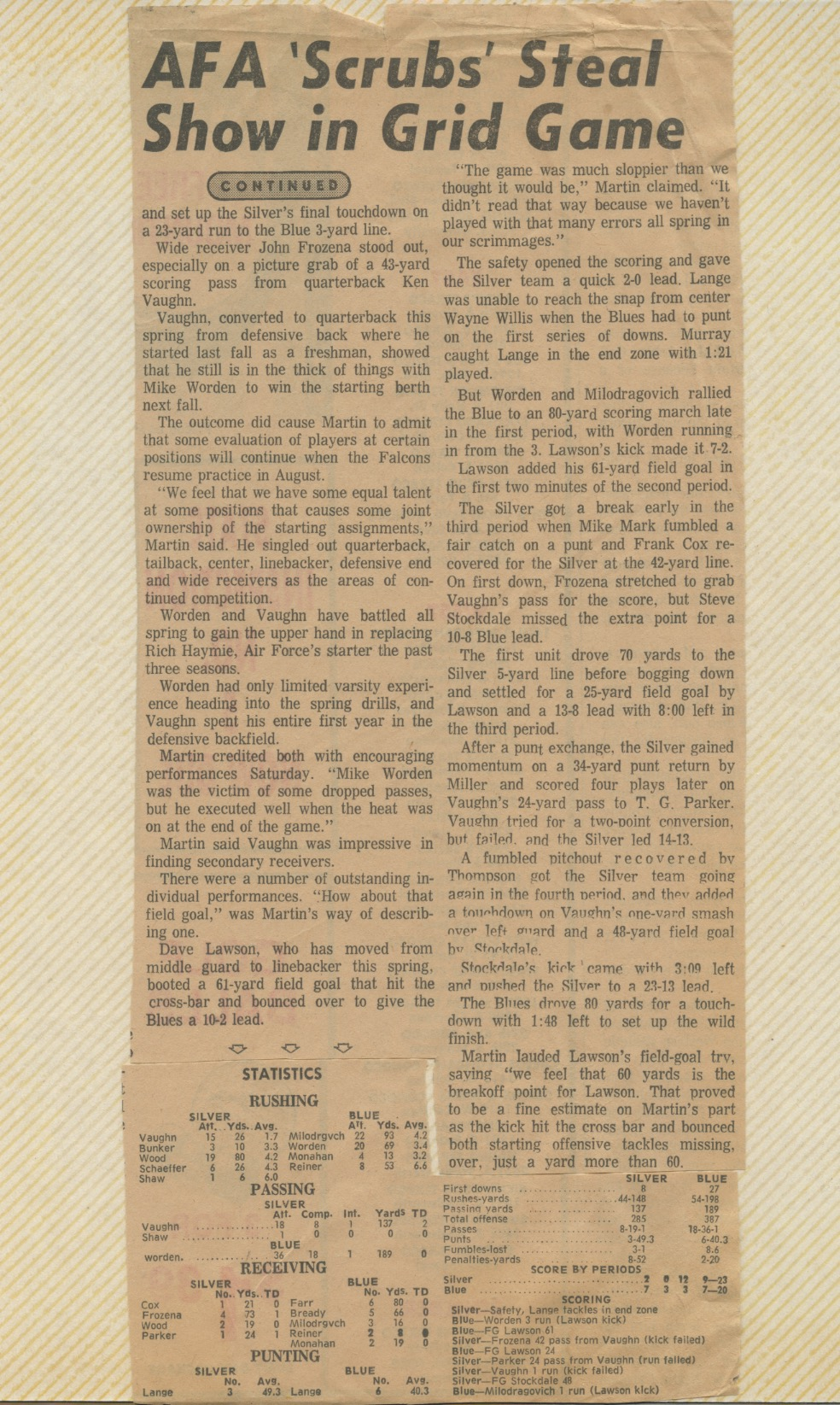 AFA Spring Football Game 1974 page 2