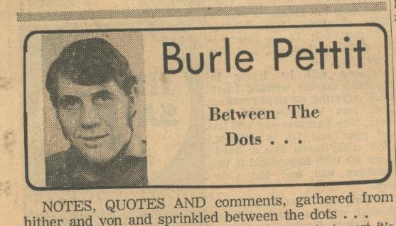 Burle Pettit column in Lubbock newspaper