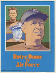 Air Force vs. Notre Dame Program 1973