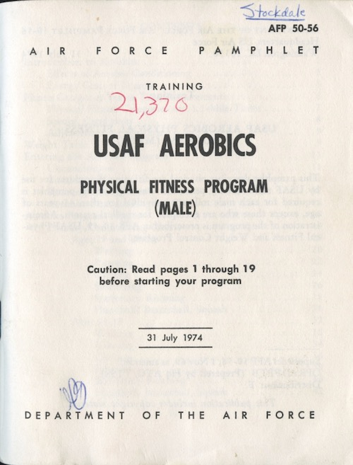 Cover of USAF Aerobics Pamphlet
