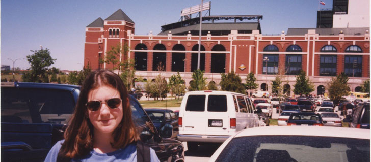 Stacy at the Ballpark