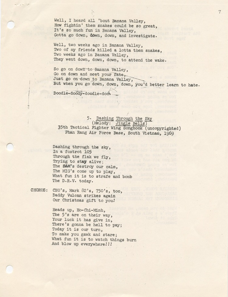 pages from Folksongs of the American Fighter Pilot