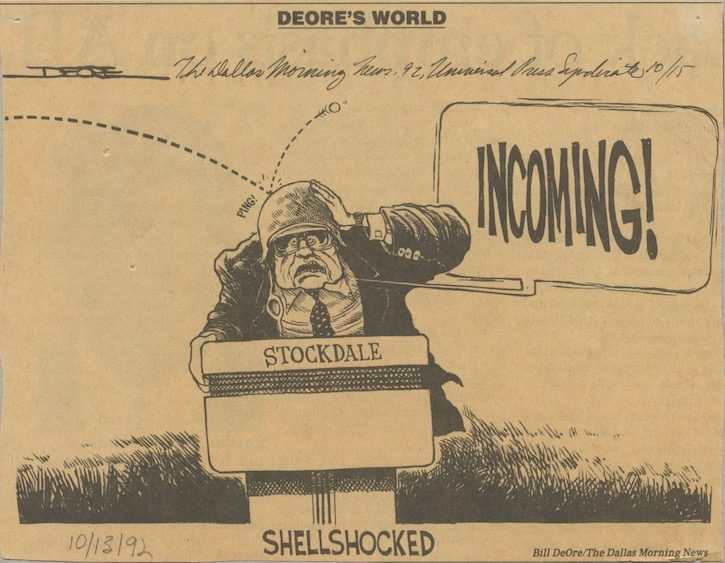 Adm Stockdale 1992 VP debate cartoon
