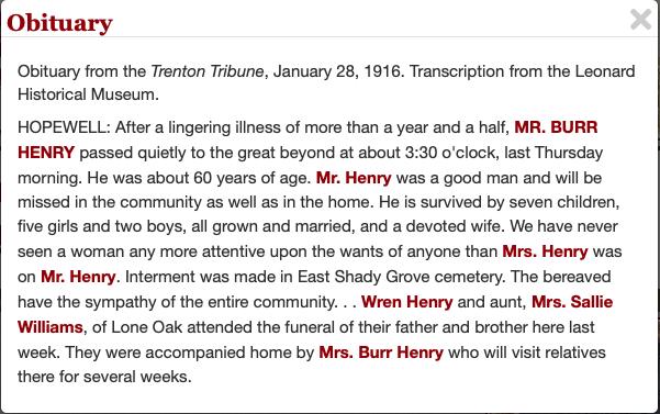 Burr Hamilton Henry Obituary
