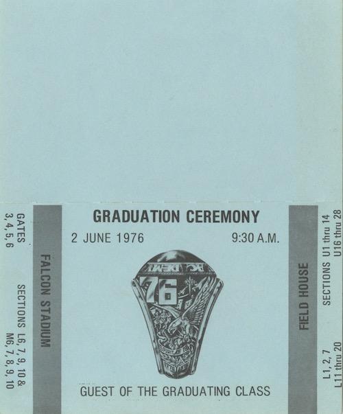 Graduation Ticket Face