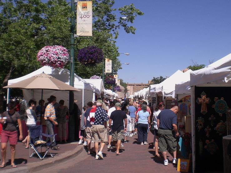 Santa Fe Plaza Crowd