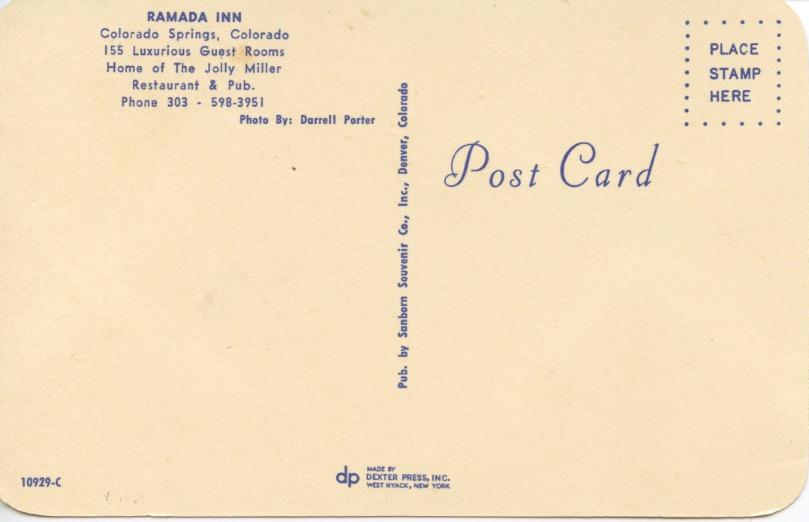 Ramada Inn Postcard
